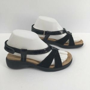 Haflinger Patent leather suede Strappy Sandals 37